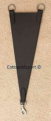 CS   Black Leather Bib clips to Martingale / Breastplate