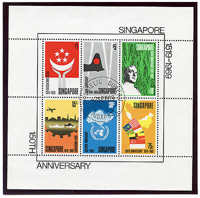 Singapore 1969 QEII 150th Anniversary miniature sheet very fine used. SG MS127.