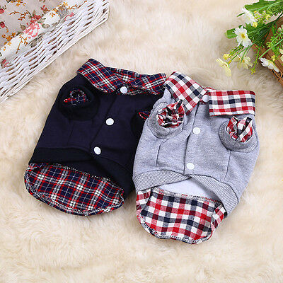 Small Pet Dog Cat Shirt Puppy Warm Clothes Sweater Costume Cool Jacket Coat Hot