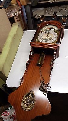 old dutch long tale clock 19-hundreds RARE great condition