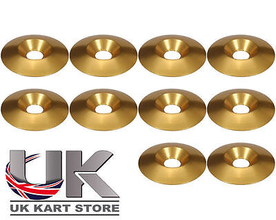 Alliage CSK 30 x 5 x 8mm Rondelle Siège M8 Or x 10 UK KART STORE