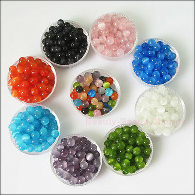 New Charms Cat Eye Gemstone Loose Ball Round Spacer Beads 4mm 6mm 8mm