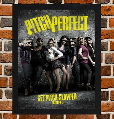 Framed Pitch Perfect Movie Poster A4 / A3 Size Mounted In Black / White Frame