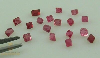 Lot rote Spinell Kristalle aus Myanmar - 18 rote Spinelle