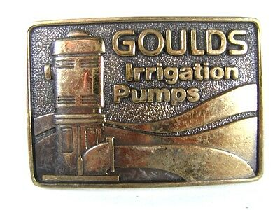 1979 Goulds Irrigation Pumps Solid Brass Belt Buckle By BTS 81016