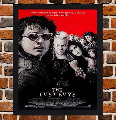 Framed The Lost Boys Movie Poster A4 / A3 Size Mounted In Black / White Frame