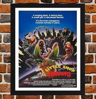Framed Little Shop Of Horrors Movie Poster A4 / A3 Size In Black / White Frame .