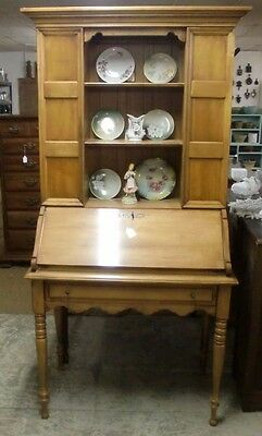 Drop Front Desk Hutch Solid Maple Very Nice!!