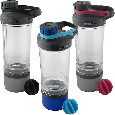 Contigo 22 oz. Shake & Go Fit Mixer Bottle and Storage Container