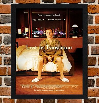 Framed Lost In Translation Movie Poster A4 / A3 Size In Black / White Frame .