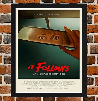 Framed It Follows Movie Poster A4 / A3 Size Mounted In Black / White Frame