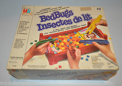 BED BUGS Milton Bradley Board Game 1980s Tested