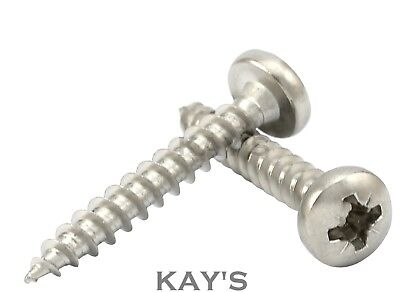 POZI DRIVE PAN HEAD CHIPBOARD/WOOD SCREWS A2 STAINLESS STEEL 3mm 4mm 5mm 6mm