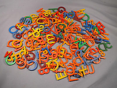 Vintage Collection of Coloured Plastic Letters - Mixed Sets