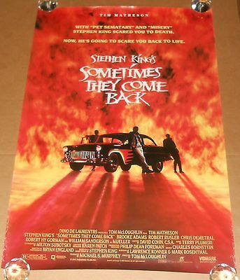 Sometimes They Come Back Movie Poster 1994 Promo 40x27 Stephen King