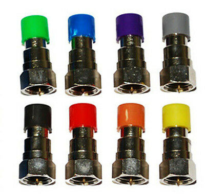 8 pc set Replacement Coax Cable Mapper Terminator Toner Ends Tips Color Coded