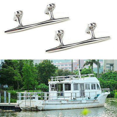 2pcs Stainless Steel Dock Deck Line Rope Cleat Tie Boat Yacht Marine Hardware