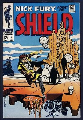 Nick Fury Agent of SHIELD 7 HIGH GRADE Steranko Dali C 1968 HOT 1st SERIES Marv.