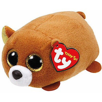 TY Beanie Boos - Teeny Tys Stackable Plush - WINDSOR the Bear (4 inch) - MWMTs
