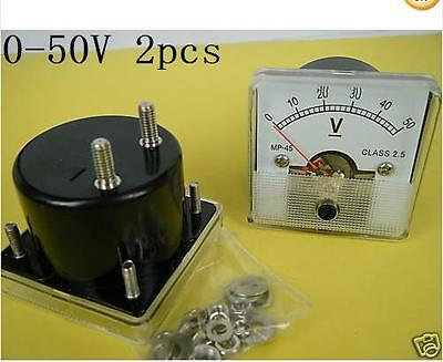 1pcs Voltmeter Analogue DC 0V-50V 50 Volt Class-2.5 45mm x 45mm ,DC50V