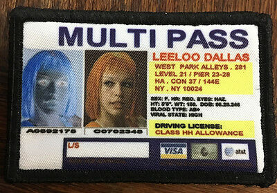 Fifth Element Leeloo Dallas Multi Pass Morale Patch Tactical Military Army