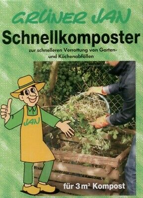 Grüner Jan Quick composter 2 x 2,5 kg Garden Waste Rotting help