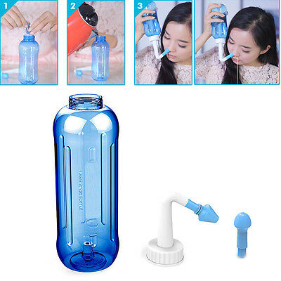 500ML Adults Nose Wash System Clean Children Sinus Nasal Pressure Neti Pot