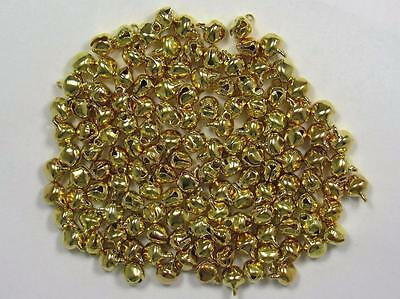BB TINY CHRISTMAS BELLS GOLD 6mm pk of 50 craft jingle bell xmas wedding