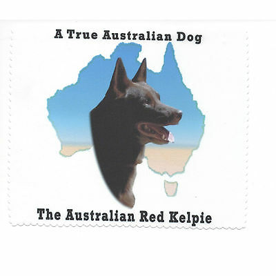 Australian Kelpie Red Map Glasses cleaning cloth Sunglasses Single sided