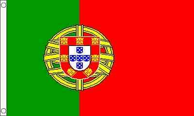 Portugal 5ft x 3ft (150cm x 90cm) 100% Polyester Flag
