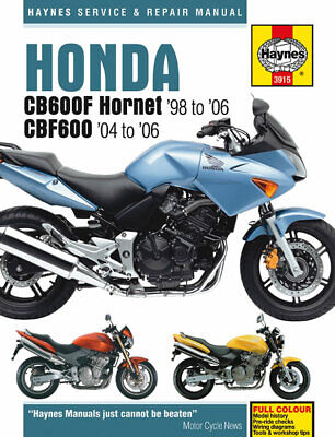 New Haynes Manual Honda Cb 600 F3 Hornet 2003