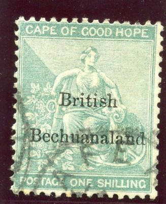 Bechuanaland 1886 QV 1s green very fine used. SG 8. Sc 9.