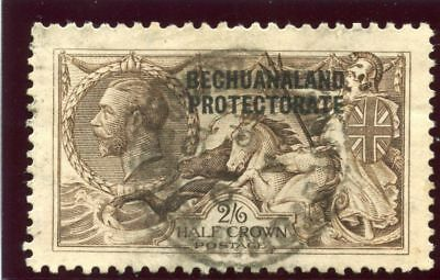 """Bechuanaland 1913 KGV """"Seahorse"""" 2s 6d deep sepia-brown VF used. SG 83. Sc 92."""