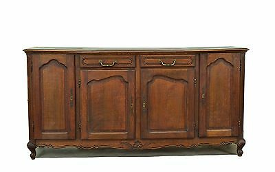 882701 : Antique French Country Oak Sideboard Cabinet Console Buffet