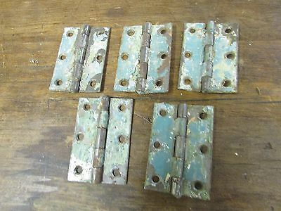 Antique Old Mexican Door Hinges #9-Lot of 5-Hardware-Rustic--2 x 2.75 inches