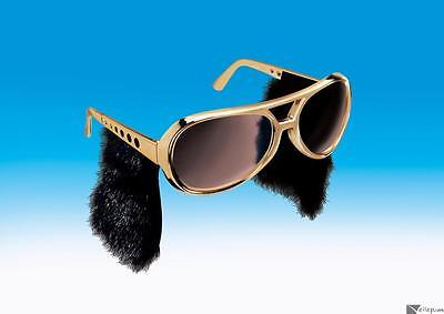 Rock & Roll Sunglasses - Elvis Glasses With Sideburns