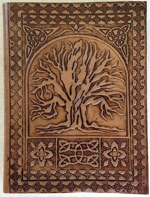 Handmade Leather Blank Journal Diary Notebook Book Sketch Gift Pad Thoughts Tree
