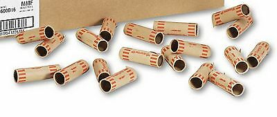 New 1000 Preformed  Tube Coin Wrappers Quarter Size Paper Tubular