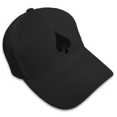 SPADE POKER CARD PLAYING Embroidery Embroidered Adjustable Hat Baseball Cap