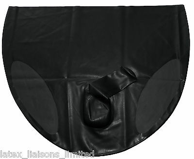Black Latex Rubber All Over Mens Briefs Large 2nd BIN