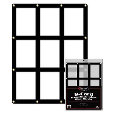 5 BCW 9 Card Black Border Screwdowns Card Holder Display Case