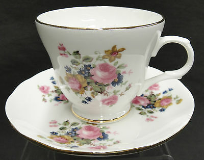 Sadler Wellington Bone China Cup and Saucer Made in England Floral