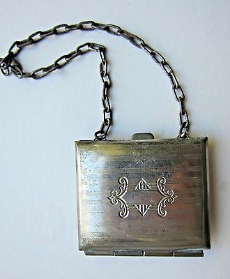 Small Vintage European Metal Coin Purse on Chain