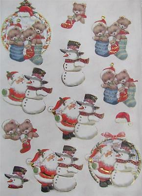 3D Paper Tole Card Making Embossed Christmas Toys Santa Snowman 2 Pictures