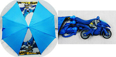 Licensed DC Comics BATMAN UMBRELLA Motorcycle Molded Handle Rain Snow Sun Gear