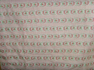 Single ticking print pillowcase flannel floral roses standard size chic romantic