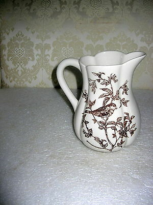 """Large Pitcher """"bird Toile"""""""