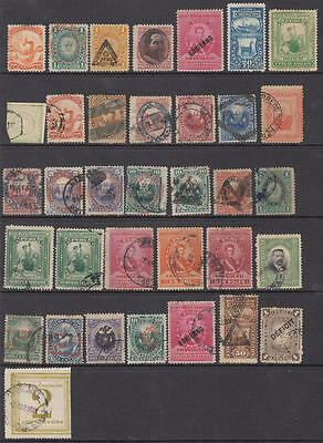 Peru 19th Century hi val selection 35 diff stamps cv $73
