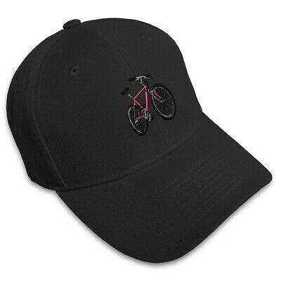 MOUNTAIN PINK BIKE Embroidery Embroidered Adjustable Hat Baseball Cap