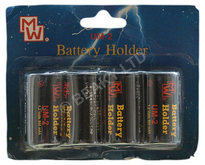 Quality AA to C HR14 Battery Converters [4-pack] Saves You Money!
